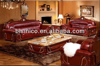 Contemporary Thai Style Living Room Sofa Set,Carved Wood Marble Top Coffee  Table,Southeast Asian Leisure Genuine Leather Sofa - Buy Indonesia Style ...