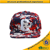 digital Camo 5 panel baseball caps and hats applique embroidered snap back hat sport cap