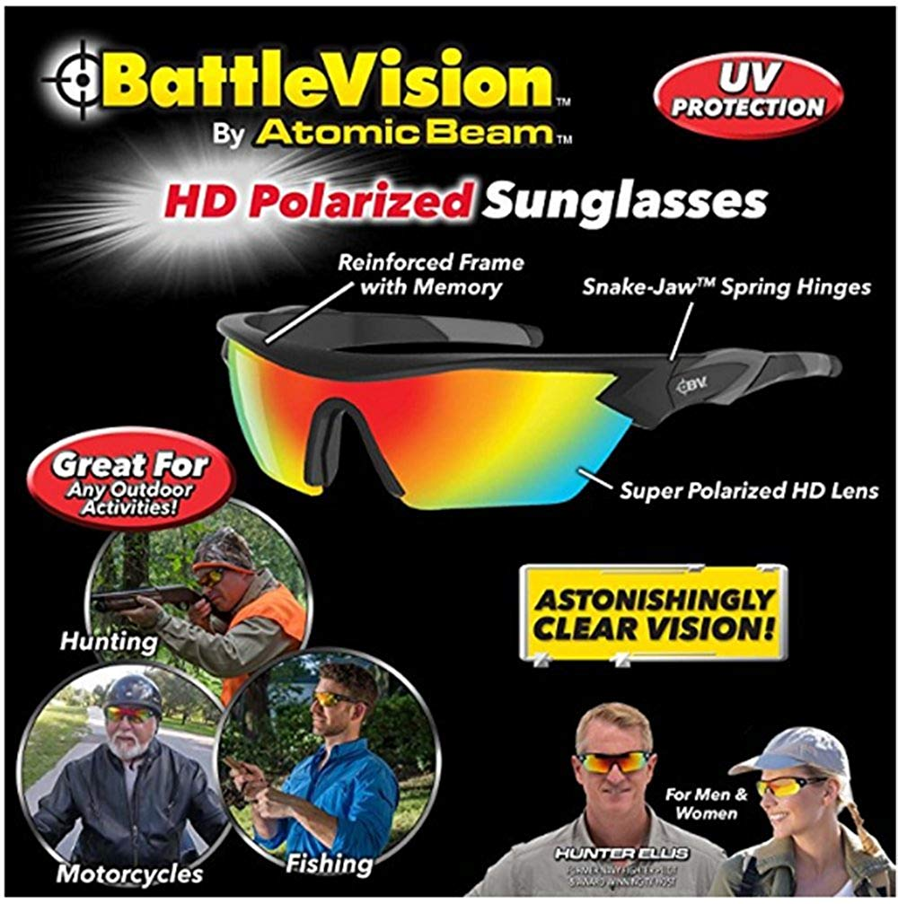 48f4eb42fc1 Get Quotations · Battle Vision HD Polarized Sunglasses