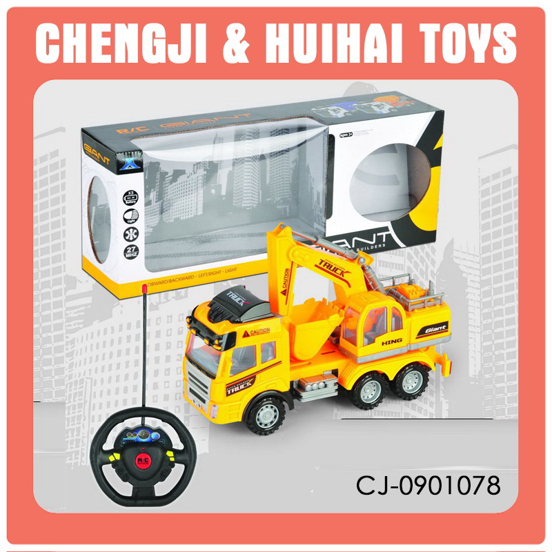 China wholesale plastic construction toy car 4 channel rc trucks for sale
