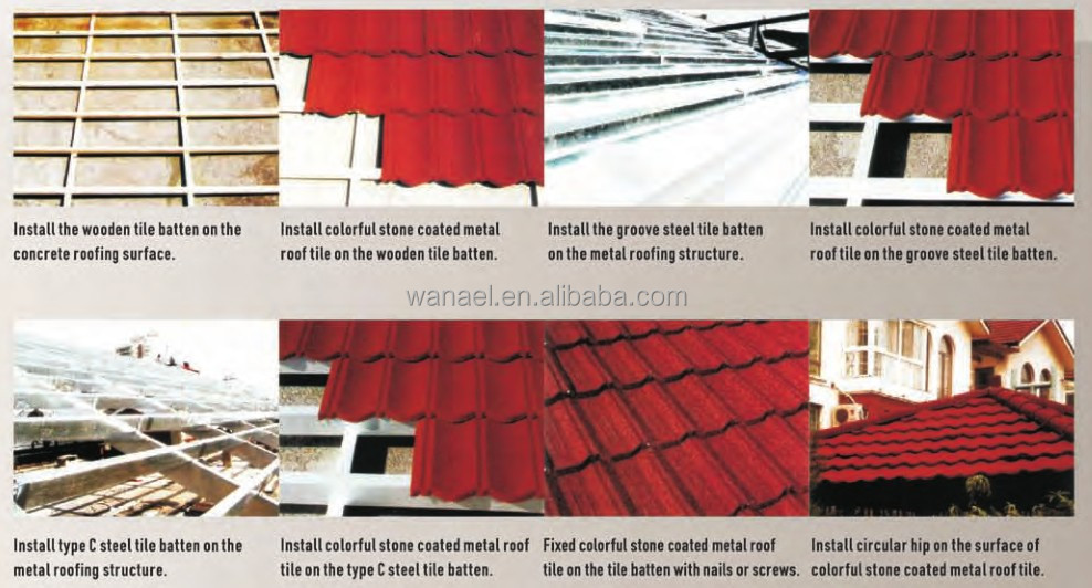 Flexible insulated stone coated metal sheet supplies for Types of roof covering materials