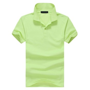 0813cd9a 2015 men's short sleeve polo shirt made in china, lemon green polo shirts  with 2
