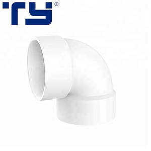 Top supplier factory price all sizes PVC 90 deg elbow