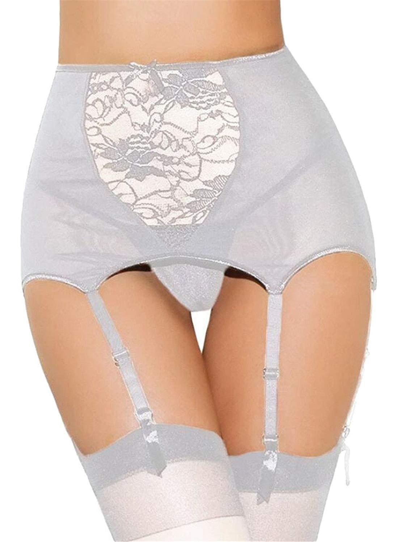 32d86d5f43ea1 Get Quotations · ouxiuli Women Plus Size Lace Super Mini Skirt Garter Belt  Set With G-String Panty