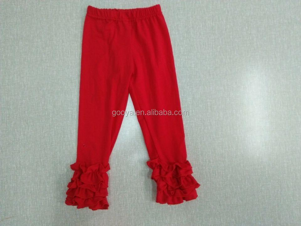 Fall Color Icing Baby Leggings Kids Ruffle Pant Girls Wholesale ...