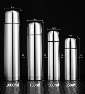 Promotion Gift Double-layer Bullet Shape Stainless steel Thermos BPA Free Water Bottle Vacuum Flask