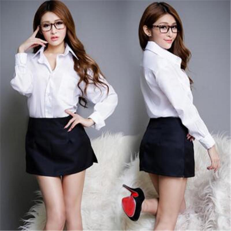 37054aa002 Mujeres popular Japón anime sexy Girl lindo japonés por favor profesor  privado Secretario uniforme disfraces Cosplay