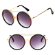 DLL3085 2018 Fashion Eye wear Colored Frame Vintage Round Sunglasses