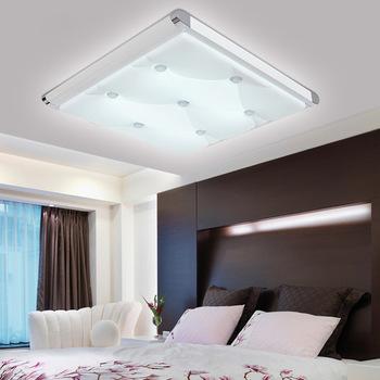 2015 abajur plafonniers moderne salon plafonnier chambre den plat lampes en aluminium acrylique. Black Bedroom Furniture Sets. Home Design Ideas
