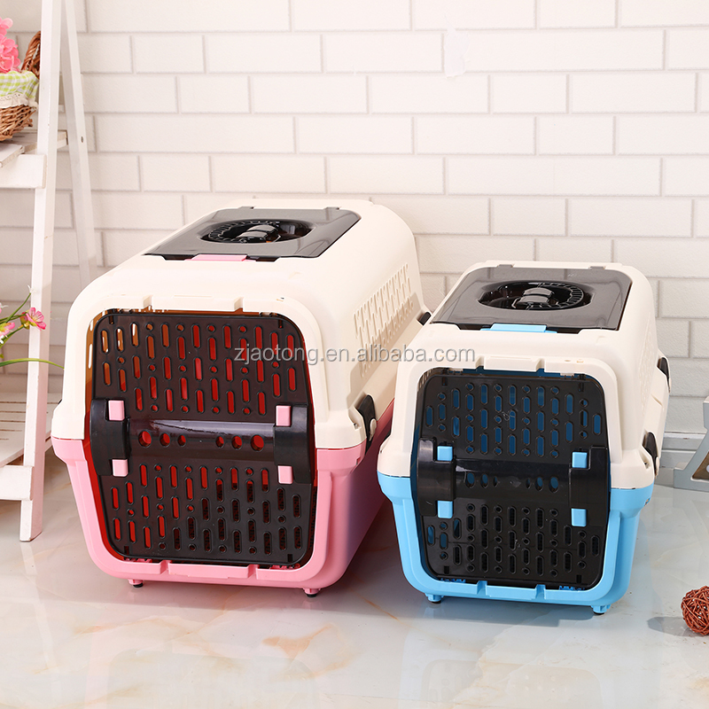Top Selling Foldable Airline Approved Plastic Pet Crate Large Dog Cages For Travel