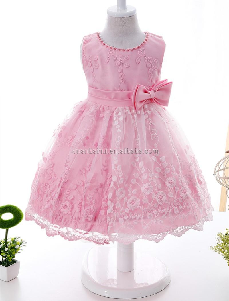 Chica coreana Rosa vestido de fiesta de cumpleaños de vestido de bautizo  para 1 año viejo a05314375be3