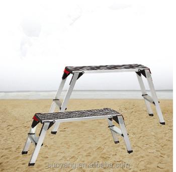 Sgabello Scaletta Pieghevole.Portable 2 X Hop Step Up Piattaforma Sgabello Scaletta Pieghevole In Alluminio Work Bench Buy Piattaforma Di Lavoro Scaletta Banco Di