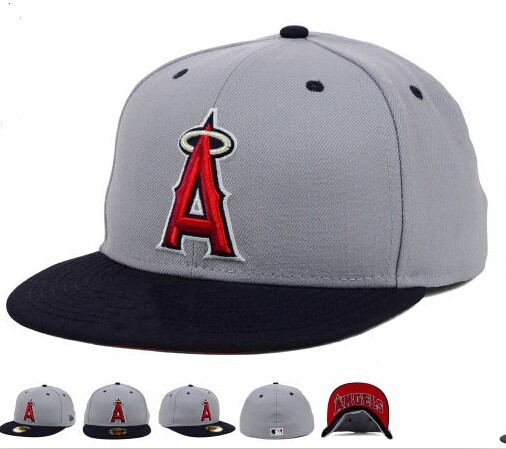 New Los Angeles Angels Gray Color Red A Baseball Fitted Hats Men's,Sport Hip Hop Fitted Caps Women's,Fashion Cotton Casual Hats