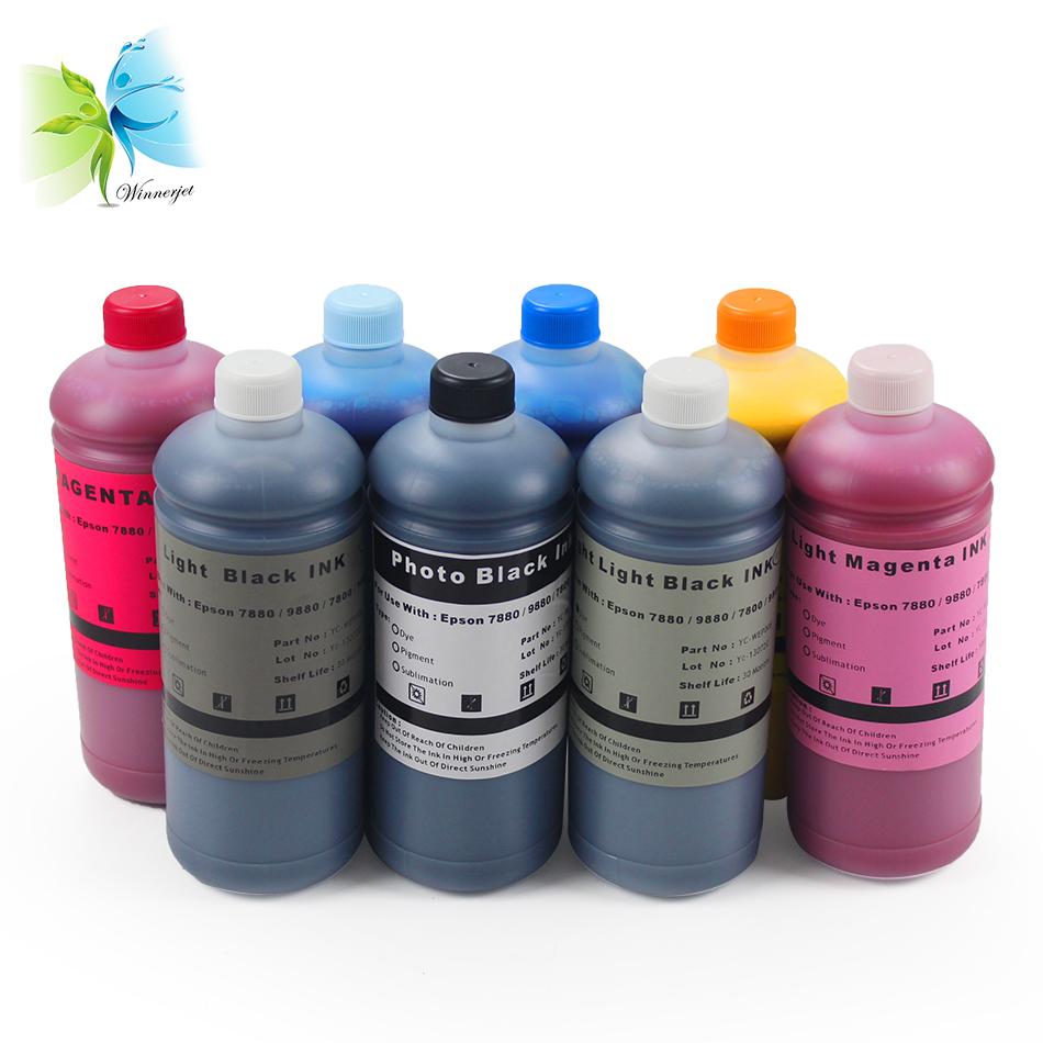 Wasserfeste und gegen Sonnenlicht beständige wasserbasierte Pigmentdrucktinte für Tintenstrahldrucker Epson 7800 9800 7880 9880