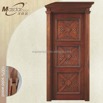 Apartment Main Entrance Teak Wood Single Door Designs In Indian ...