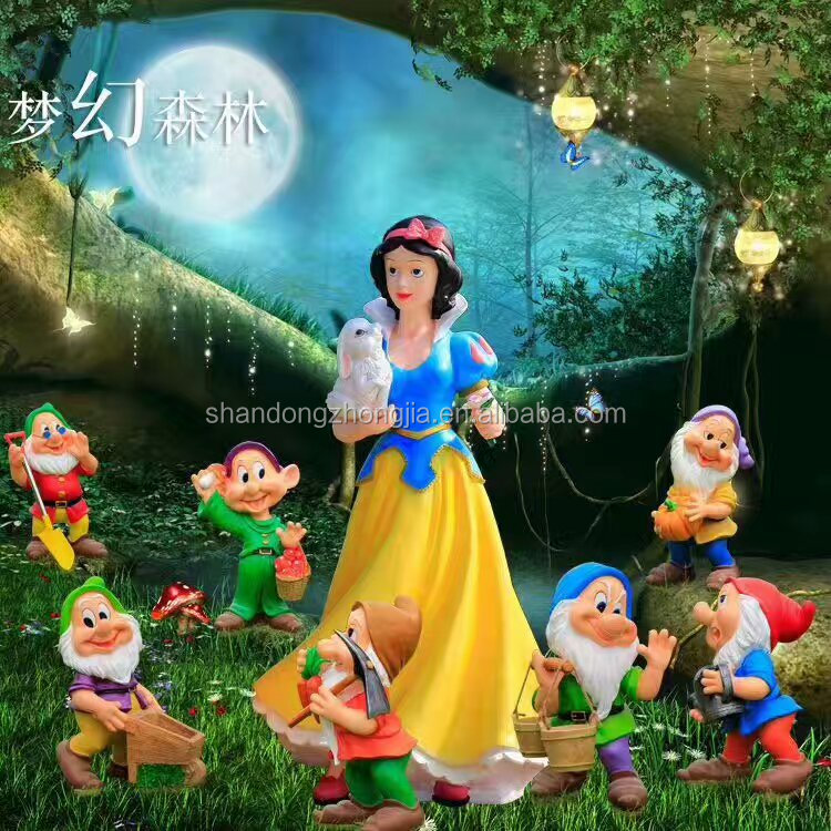 Snow White and the Seven Dwarfs statues/Movie character statue