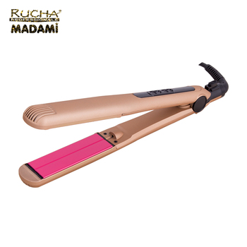 Rose Gold Flat Irons Floating Plate Dual Voltage Flat Iron Vibrating Hair Straightener