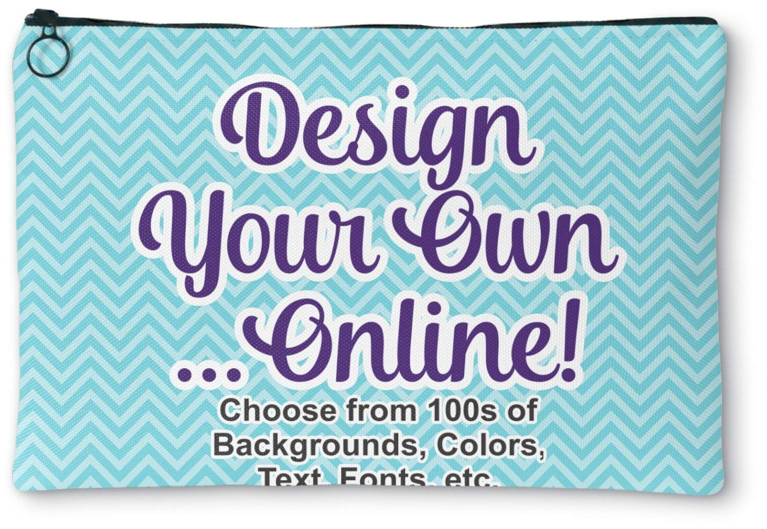 """Design Your Own Zipper Pouch - Small - 8""""x6"""" (Personalized)"""