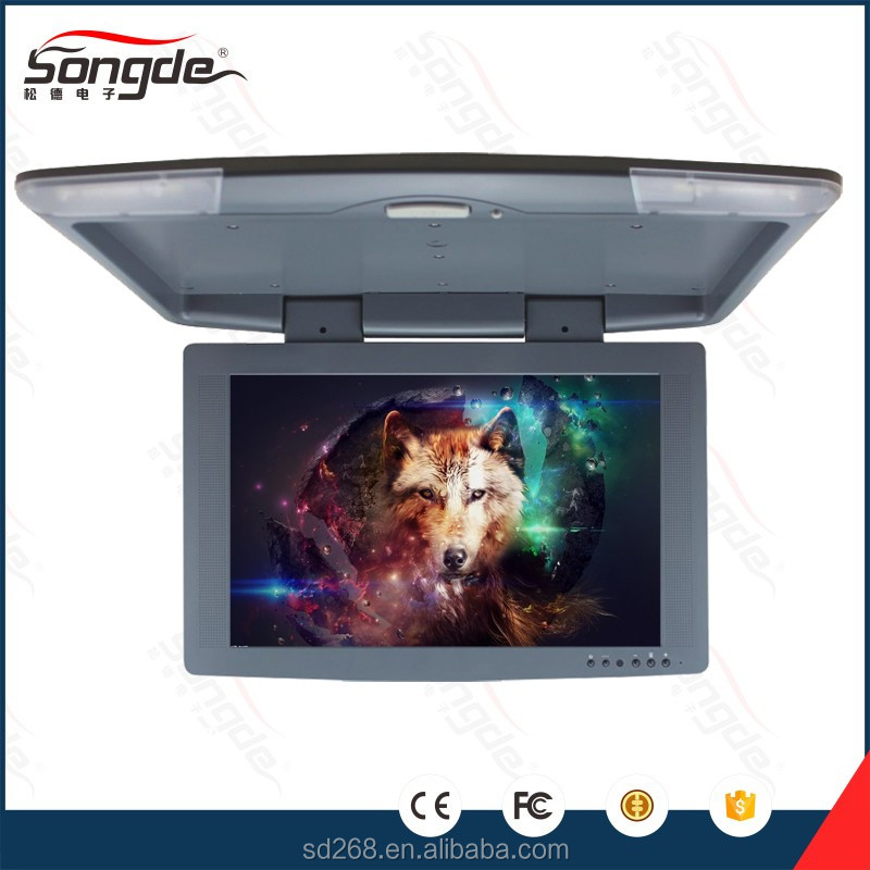 HD flip down motorized lcd car monitor TFT LCD screen in car TV monitor display