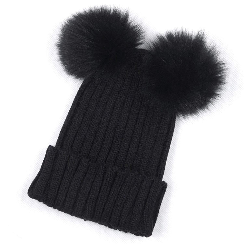 849c71e19c0 Get Quotations · Litetao Women Stylish Winter Warm Cute Hats Crochet Knit  Hairball Beanie Cap