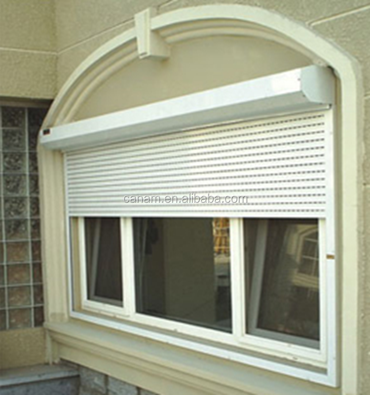 Security commercial aluminium rolling shutter doors