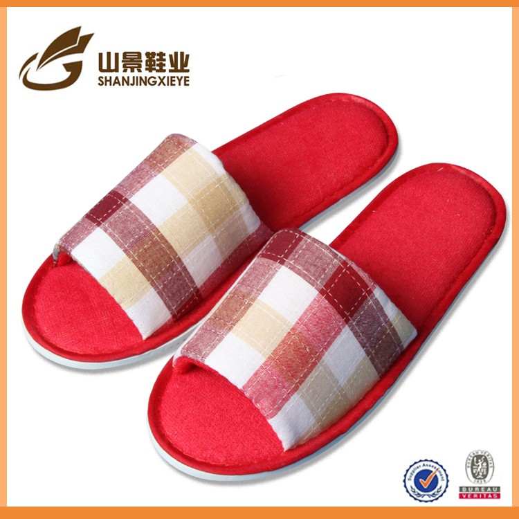 lady soft cheap fleece indoor slipper for customer