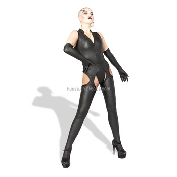Wholesale Latest Plus Size faux leather catsuit Sexy Latex Rubber Catsuit For Women