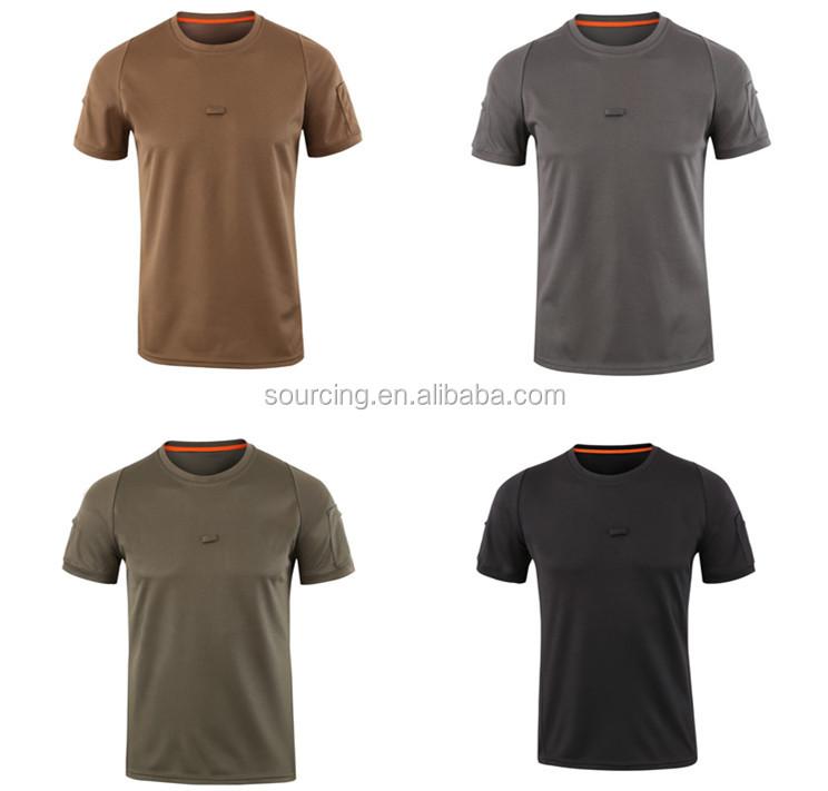 4 色新スタイルミリタリーアウトドアハイキング通気性 O-ネック乗馬戦術的な Tシャツ