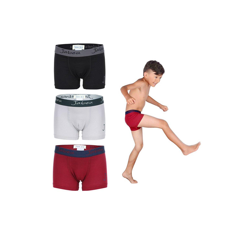 0225951bf117 Get Quotations · Jabeu Boys Underwear - Cotton Underwear for Kids - Boxer  Briefs - 3 Pack - Snug