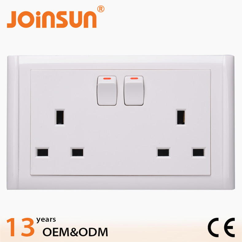 Double Uk Socket With Switch Thailand Travel Plug Adapter - Buy ...
