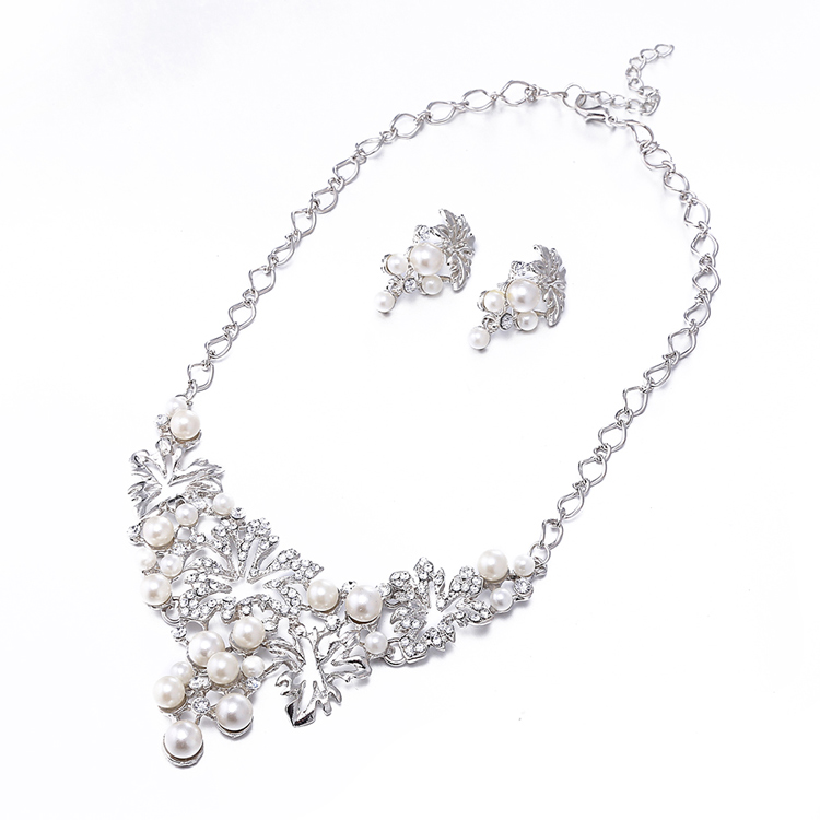 chinese heavy pearl necklace jewelry set designs price
