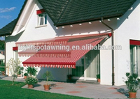 Aluminum porch awnings retractable roof rain awning systems