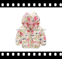 High quality wholesale hooded zipper childrens winter jacket