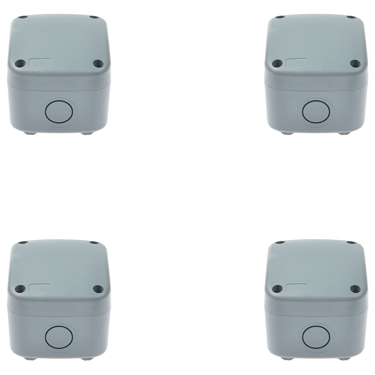 GREENCYCLE 4 Pack IP66 Rated Plastic Weatherproof Junction Box Fit for Outdoor Use, 867462mm