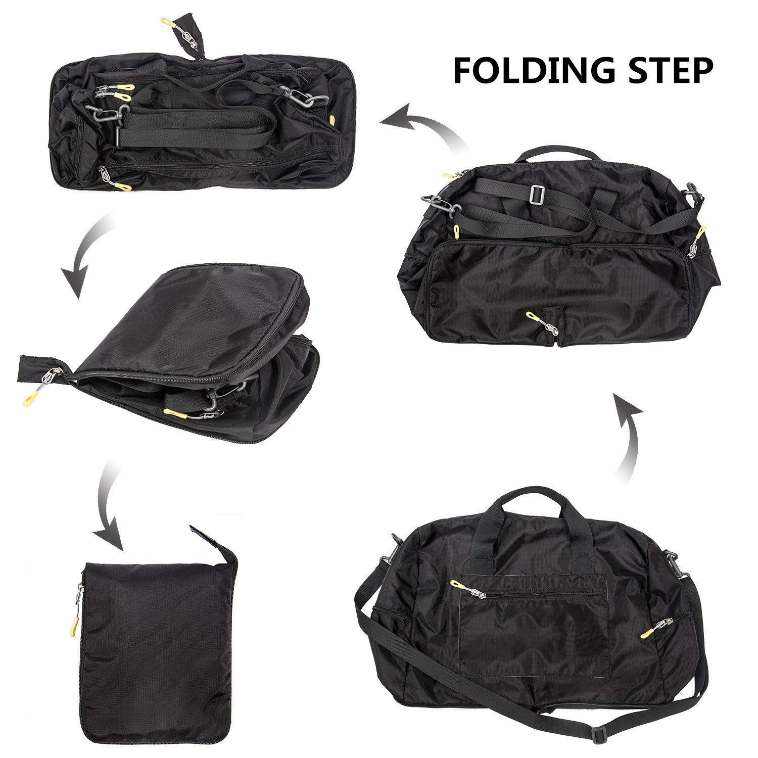 travel Multifunction Foldable Waterproof Duffle Sports Gym Trolley Weekend Travel Bag