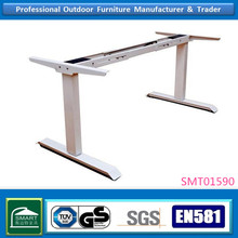 white casting iron height adjustable electric table legs