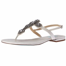 Stylish Bridal T Strap Gem Ladies Flat Sandals