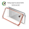 smart phones electroplated tpu mobile phone case for iPhone 5C transparent crystal plating tpu hard case