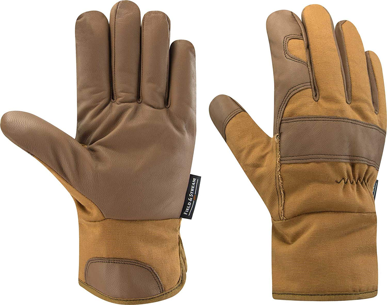 76be65843f24 Get Quotations · Field   Stream Men s Canvas and Leather Gloves
