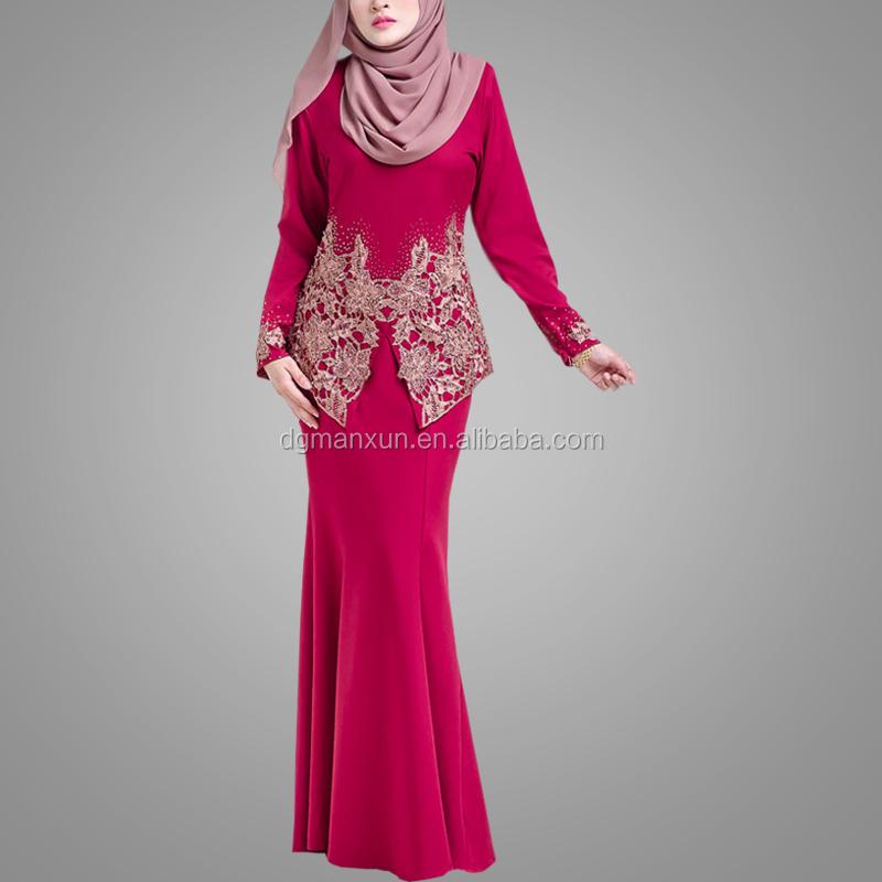 Wholesale Online Luxury Fashion Lace Baju Kurung Latest