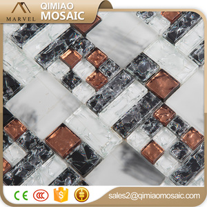 15x15 Mm Maroon Red Square Glass Broken Mosaic Tile Kitchen Backsplash