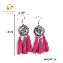Fctory direct wholesale handmade cheap bohemian elegant tassel earrings for party
