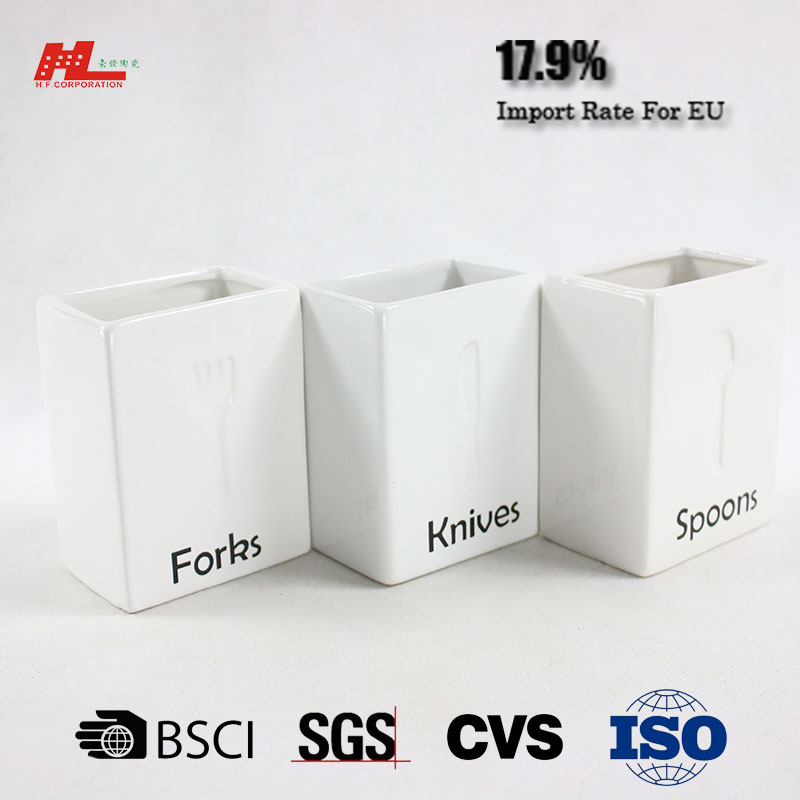 high quality ceramic kives spoon fork holder