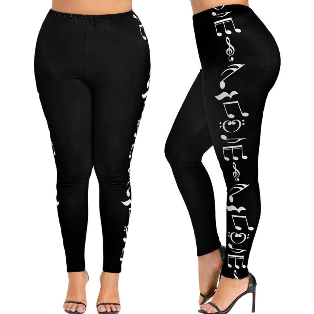 81442f1399978 Get Quotations · Leggings for Women, Fashion Music Notes Yoga Pants High  Waist Elastic Sport Pants Tight
