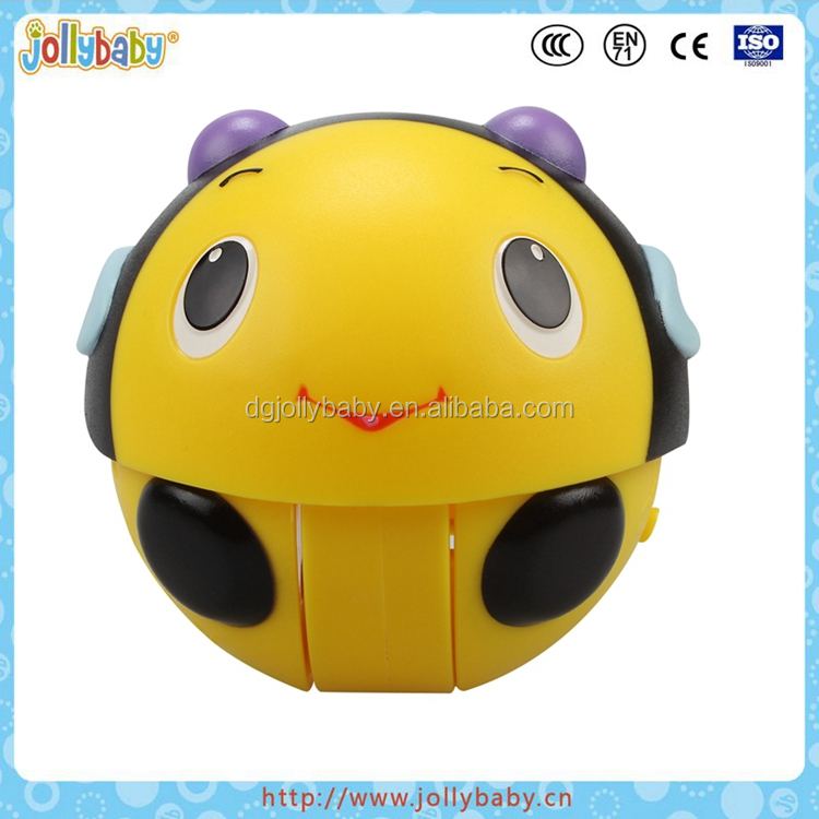 Dongguan Jollybaby Plastic Rolling Music Animals Ball Toy