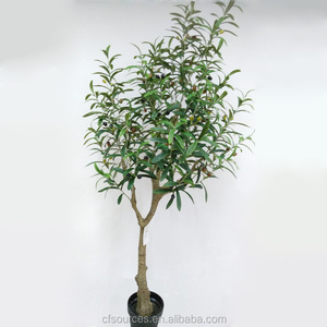 Wholesale Indoor Decorative Plants Artificial Plastic Olive Trees