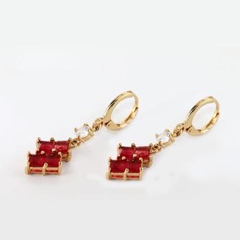 Design Gold Earrings Tops 2018 Fashion 22 Carat