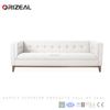 Mid century Modern chesterfield sofa white fabric home furniture living room sofa Modern vintage sofa