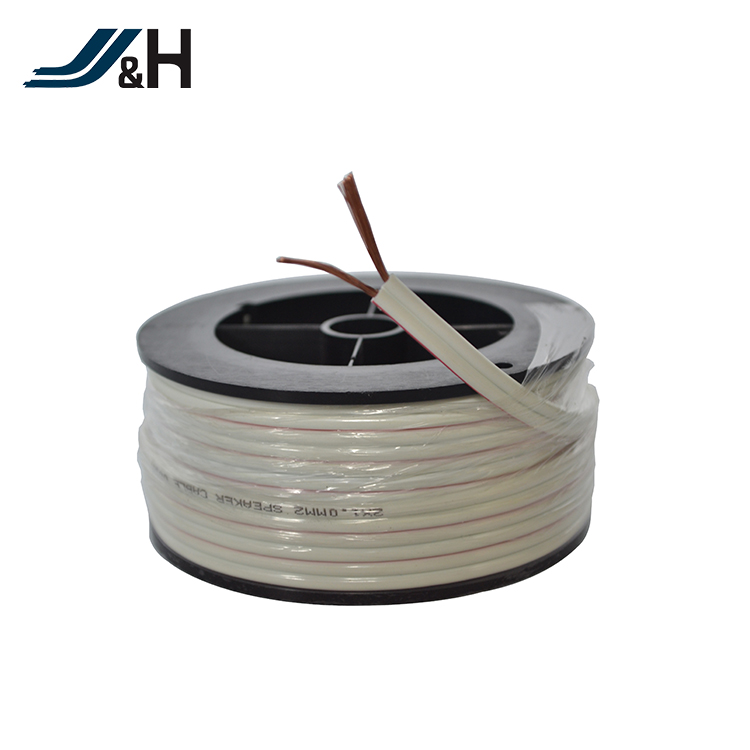2core 0.5sqmm high end low noise speaker wire cable with PVC jacket