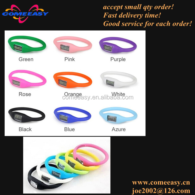 logo printed multi colors silicone sport watch